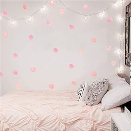 Pink Polka Dot Wall Decals Dots 36 Decals Wall Sticker for Kids Baby Girls Teens and Nursery Room | Amazon (US)