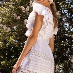 Sunny Smile Ruffled Lace Mini Dress | Lulus (US)