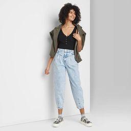 Women's Super-High Rise Balloon Leg Taper Jeans - Wild Fable™ Denim Light Acid Wash   Target
