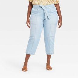 Women's High-Rise Taper Jeans - Universal Thread™ Light Blue   Target