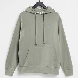 COLLUSION Unisex logo hoodie in khaki | ASOS (Global)