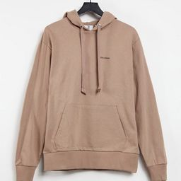 COLLUSION Unisex oversized hoodie with logo print in brown | ASOS (Global)