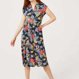 Free Assembly Women's Short Sleeve Split Neck Midi Dress   Walmart (US)