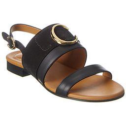 Chloé C Plaque Leather & Suede Sandal | Ruelala