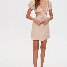 Cutout Linen Mini Dress   Forever 21 (US)