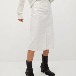 Denim cotton skirt | MANGO (UK)