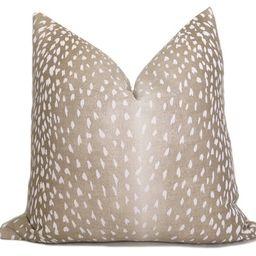 Antelope Pillow Cover - Tan - Fawn Pillow - Deer Pillow - Animal Pillow - Leopard - Cheetah - Des... | Etsy (US)