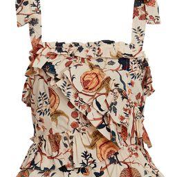 Cleo Ruffled Floral Poplin Tank Top | INTERMIX