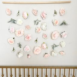 Flower Wall Hanging Girl Nursery Decor Girl Floral Wall   Etsy   Etsy (US)