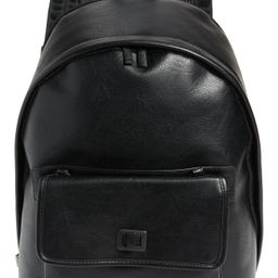 Beis The 2-In-1 Faux Leather Backpack - Black   Nordstrom