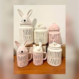 Rae Dunn Easter mug  Easter canister  BUNNY TREATS  bunny   Etsy   Etsy (US)