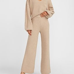 High Waisted Cozy Ribbed Wide Leg Pant | Express