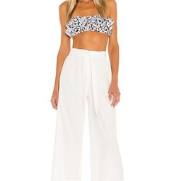 Peony Swimwear Vacation Culotte in Magnolia from Revolve.com | Revolve Clothing (Global)