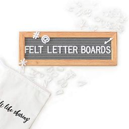 Small Felt Letter Board with Letters and Numbers, Message Board W/ Oak Frame, 10 x 3.5 Inches, Ch...   Amazon (US)