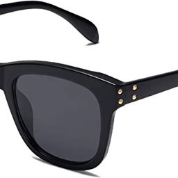 SOJOS Fashion Square UV400 Polarized Sunglasses with Subulate Rivets BOOM SJ2145 | Amazon (US)
