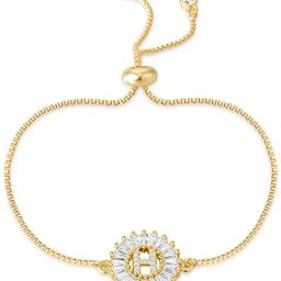COTTVOTT Charms Initial Letter Bracelet Women A-Z Alphabet Adjustable Chain Bracelets 4 Colors   Amazon (US)