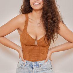 Aria Rust Brown Ribbed Bustier Bodysuit | Lulus (US)