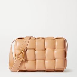 Beige Cassette padded intrecciato leather shoulder bag | BOTTEGA VENETA | NET-A-PORTER | Net-a-Porter (UK & EU)
