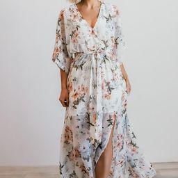 Kia White Floral Kimono Maxi Dress | Baltic Born
