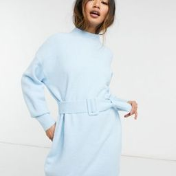 & Other Stories knit belted mini dress in blue | ASOS (Global)