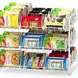 SimpleHouseware Stackable Can Rack Organizer, White   Amazon (US)