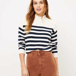 Striped Shoulder Button Sweater   LOFT