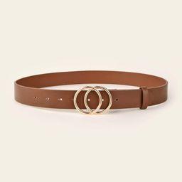 SHEIN BASICS Double Ring Buckle Belt | SHEIN