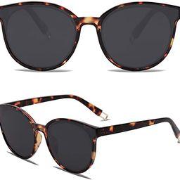 SOJOS Fashion Round Sunglasses for Women Men Oversized Vintage Shades SJ2057 | Amazon (US)