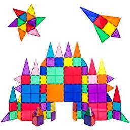 PicassoTiles 100 Piece Set 100pcs Magnet Building Tiles Clear Magnetic 3D Building Blocks Constru...   Amazon (US)