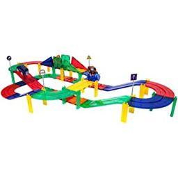 PicassoTiles 50 Piece Race Car Track Building Block Educational Toy Set Magnetic Tiles Magnet DIY...   Amazon (US)