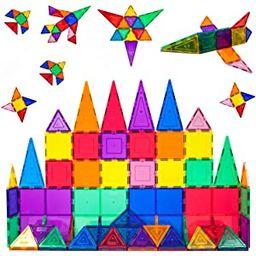 PicassoTiles 60 Piece Set 60pcs Magnet Building Tiles Clear Magnetic 3D Building Blocks Construct...   Amazon (US)