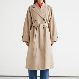 Relaxed Belted Cotton Trench Coat | & Other Stories