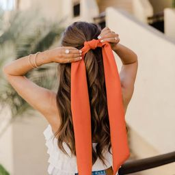 CAITLIN COVINGTON X PINK LILY The Portofino Terracotta Hair Scarf | The Pink Lily Boutique