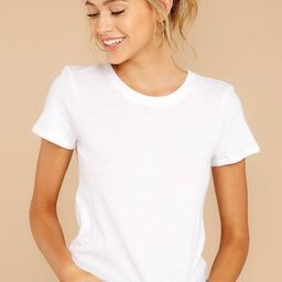 Z Supply Perfect Crew White Tee | Red Dress