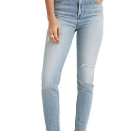 Women's Madewell The Perfect High Waist Distressed Jeans, Size 26 - Blue | Nordstrom