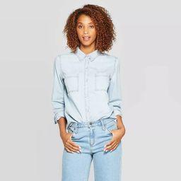 Women's Long Sleeve Labette Denim Woven Shirt - Universal Thread™   Target