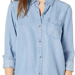 Daily Ritual Women's Relaxed Fit Tencel Long-Sleeve Button-up Tunic   Amazon (US)