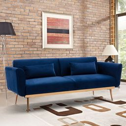 Velvet Convertible Sleeper Sofa | Overstock