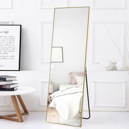 Large Full-length Floor Mirror with Stand - 21.26x64.17 - Gold | Overstock