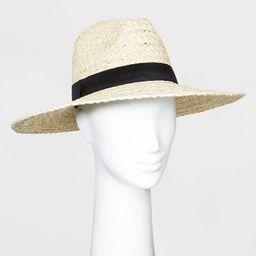 Women's Straw Wide Brim Fedora Hats - Universal Thread™ Natural One Size   Target