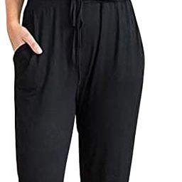PRETTYGARDEN Women's Sexy Deep V Neck Short Sleeve Wrap Drawstring Waist Jumpsuit Romper with P... | Amazon (US)