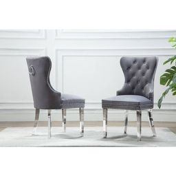 Best Quality Furniture Button Tufted Velvet Dining Chair   Overstock