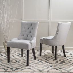 Hayden Tufted Dining Chair Set (Set of 2) by Christopher Knight Home   Overstock
