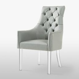 Judy Button Tufted Armed Dining Chair Set of 2   Overstock