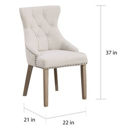The Gray Barn Mount French High Back Tufted Upholstered Dining Chair (Set of 2) - N/A   Overstock