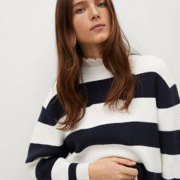 Shirt collar striped sweater | MANGO (US)