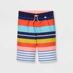 Boys' Striped Swim Trunks - Cat & Jack™   Target