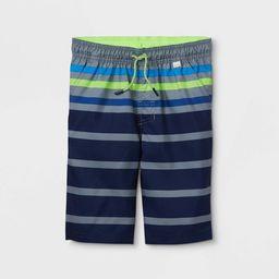 Boys' Striped Swim Trunks - Cat & Jack™ Gray   Target