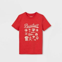 Boys' Short Sleeve Baseball Graphic T-Shirt - Cat & Jack™ Red | Target