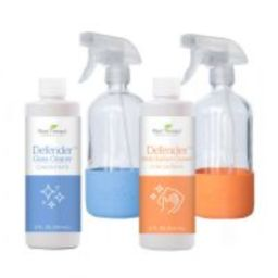 Defender™ Multi-Surface and Glass Cleaner Bundle with Orange and Blue Bottles | Plant Therapy